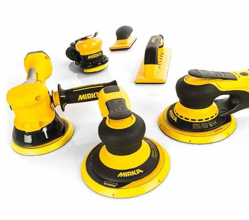 Mirka 955, Deos & DEROS Electric Sanders ,PS, RP & ROP Polishers & Backing Pads