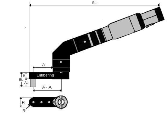 Lubbering 110 deg installation tool Hi-Lok 19mm long 1/4