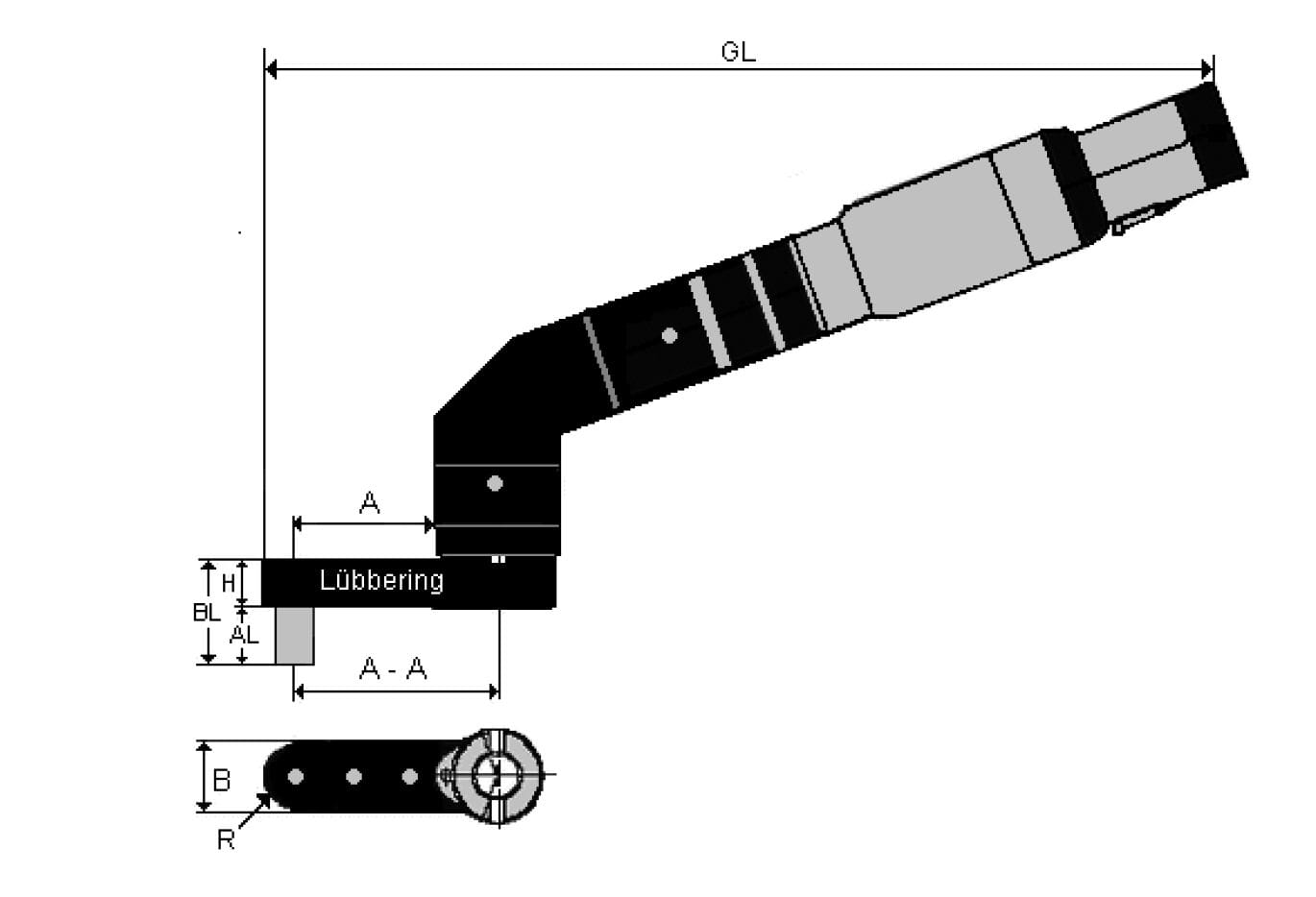 Lubbering installation tool with socket torque control 1/4