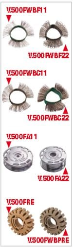 3: V,500FWBPRE : Facom Multi Function tool Hard Composite Brush