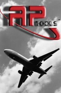 A P Tools Logo with Aircraft