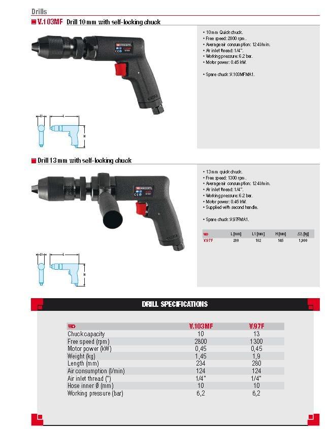 Facom Pistol drills